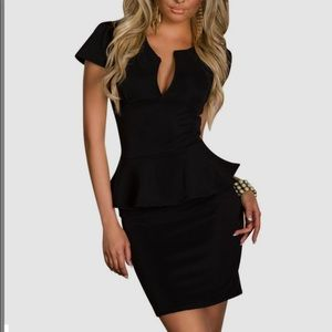 Dresses & Skirts - Ninimour V Neck Peplum Dress